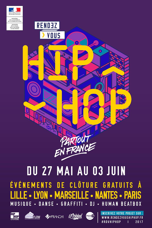 Affiche RDV Hip Hop - France - 2017