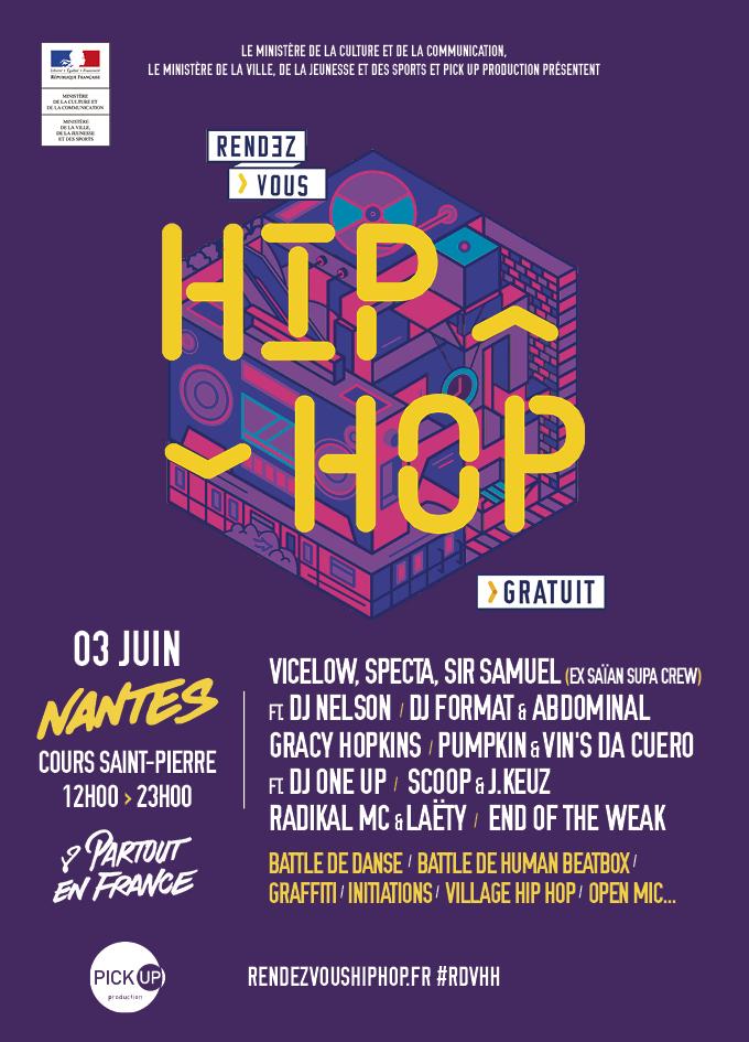 Affiche Rendez-vous Hip Hop Nantes