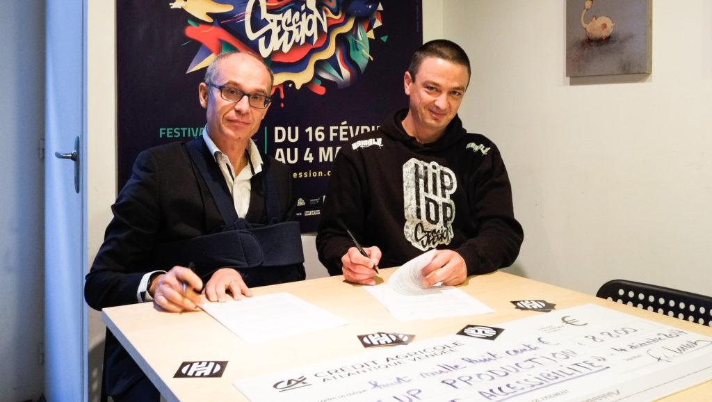 M. Frédéric Lucet et Nicolas Reverdito, directeur de Pick Up Production